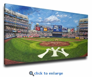 Yankee Stadium - The House that George Built - Art Reproduction on Canvas by Justyn Farano