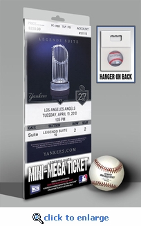 Yankees 2010 Opening Day / Banner Raising Mini-Mega Ticket - New York Yankees