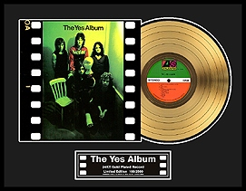 YES - The Yes Album Framed Gold Record, LE 2,500