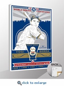 Yogi Berra 1953 World Series Champions Sports Propaganda Canvas Print - Yankees
