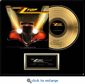 ZZ Top - Eliminator Framed Gold Record, LE 2,500