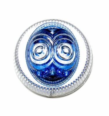 """2.5"""" Amber Led, Blue Reflector with Clear Lens"""