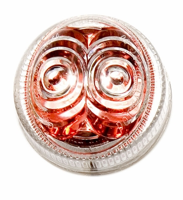 "2"" Amber Led, Red Reflector with Clear Lens"