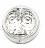 "2""  Amber Led, Silver Reflector with Clear Lens"