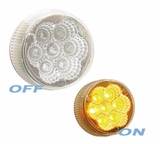 "2""Round Clear Lens Amber LED Marker"