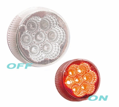 "2"" Round Clear Lens Red Led Marker"
