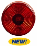 "2"" Round Starburst Red LED Light"