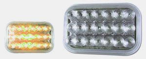 3 X 5 Clear Mirrored Amber LED Park & Turn Lamp Signal Lamp