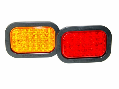 3 X 5 Rectangular  Red LED Stop,Tail& Turn light
