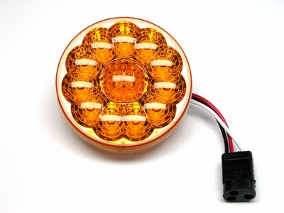 "4"" Amber w/15 Led  Park, Turn Lamp"