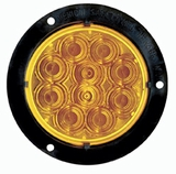 "4"" Black Flange Amber Led Lamp"