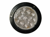 "4""Black Flange Clear Lens Red Led S/T/T Lamp"