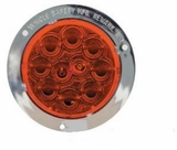 "4"" Chrome Flange Red Led S/T/T Lamp"