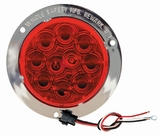 "4"" Chrome Flange S/T/T Red Led Kit"