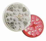 "4"" Clear Reflector Lens Red Led S/T/T"