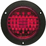 "4"" Flanged LED Red 44 Led Stop/Tail /Turn Lamp"