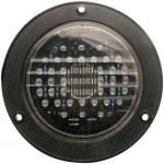 "4"" Flanged LED Red 44 Led With Clear Lens Stop/Tail /Turn"