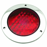 "4"" Flanged Stainless LED Red 44 Led Stop/Tail /Turn Lamp"