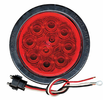 "4"" Red Led Stop, Tail And Turn Light with Prommet & Pigtail"