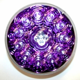 "4"" Round Purple Reflector Red Led Lamp"