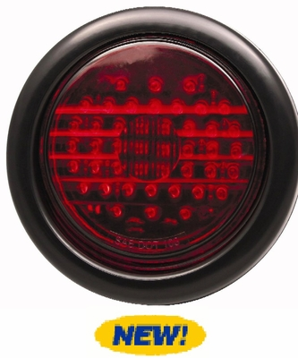 "4"" Round Red 44 Led Stop/Tail /Turn Lamp"