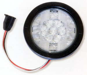 "24 Volt 4"" Round White Led Back Up Lamp"