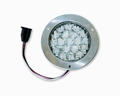 "4"" White LED BACK-UP w/Flange"