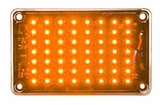 5 x 3 Amber LED Strobe Light