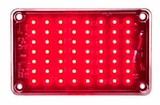 5 x 3 Red LED Strobe Light