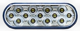 "6"" Mirrored Series Red LED Stop/Tail/Turn Light"