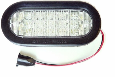 "6""OVAL LED WHITE BACK-UP"