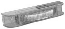 Amber Thin-Line LED Lamp with Clear Lens