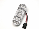 American Superlite Oval Stop Tail Turn Light w/Clear Lens