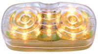 Clear Lens Double Bulls Eye Amber High Count 16 LED lamp