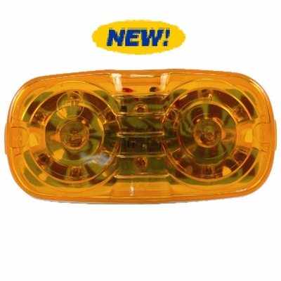 Double Bulls Eye Amber High Count 16 LED lamp