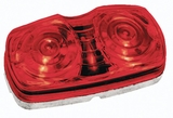 Double Bulls Eye Red Led C/M Lamp