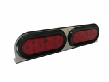 Double Oval Red Led Stainless Lamp Bar