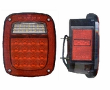 LED Jeep Wrangler Stop, Tail & Turn Lamp Set