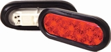 Oval Red Led S/T/T Trailer Light  Kit