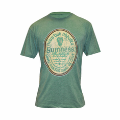 Guinness Green Distressed Gaelic Label Tee Shirt