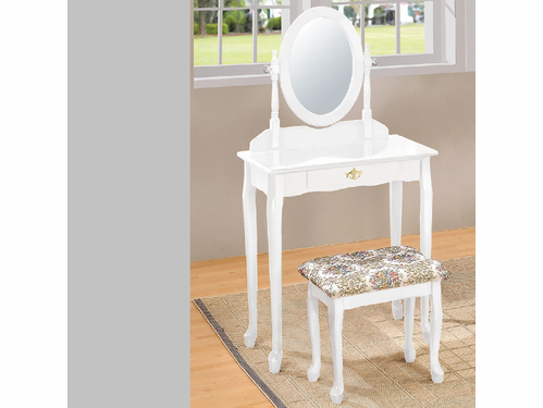 2PC Vanity Set W/Stool