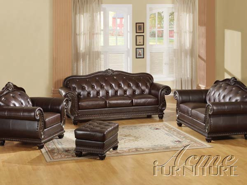 3 PCs Leather Sofa Set