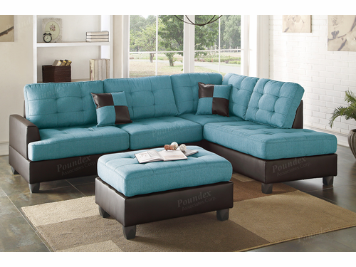 3-PCS  Reversible Left/Right Chaise Sectional Sofa  Set