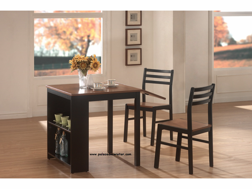 3 Piece Two Tone Breakfast Table Set
