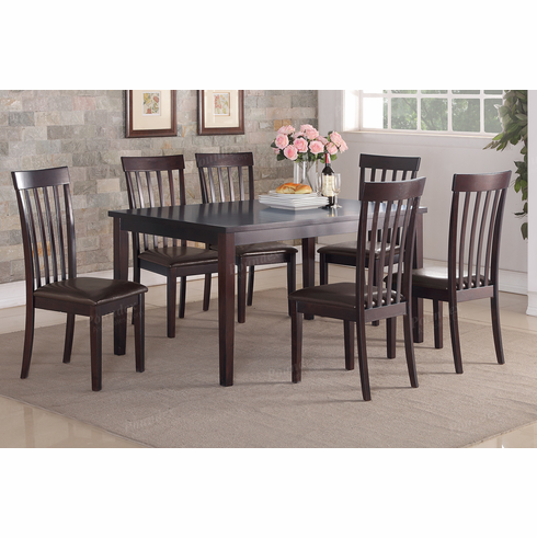 Poundex Associates Item F2270: 7 PCS Dining Table Set<br>
