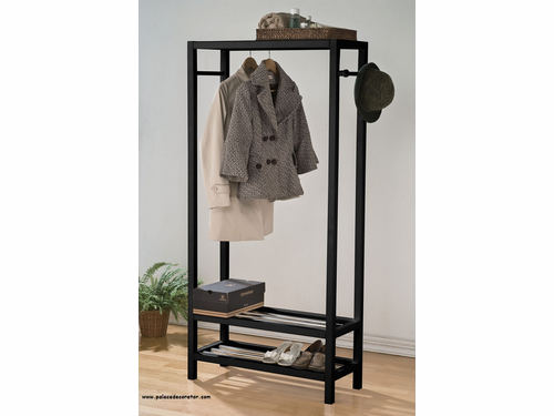 Black Finish Garment Rack