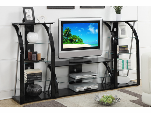 Black Metal  Frame Entertainment Center