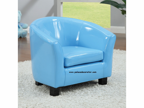 Blue PU Youth Chair