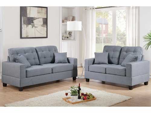 Poundex Furniture Item F7858: 2-PCs Sofa Set