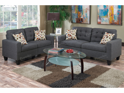 Poundex Furniture Item F6901: 2-PCs Sofa Set
